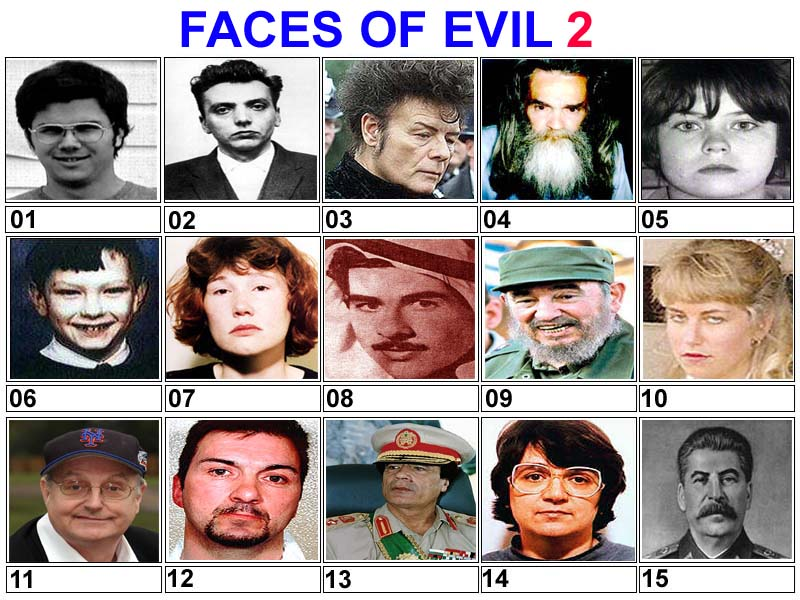 Amazing Faces Of Evil Pictures & Backgrounds