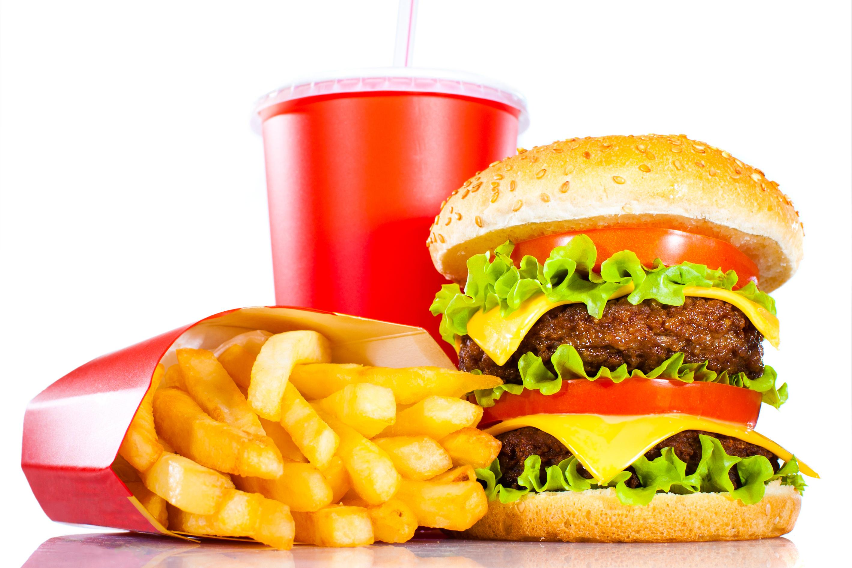 HD Quality Wallpaper   Collection: Cartoon, 2837x1892 Fast Food