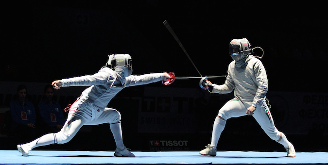 HD Quality Wallpaper | Collection: Sports, 675x340 Fencing