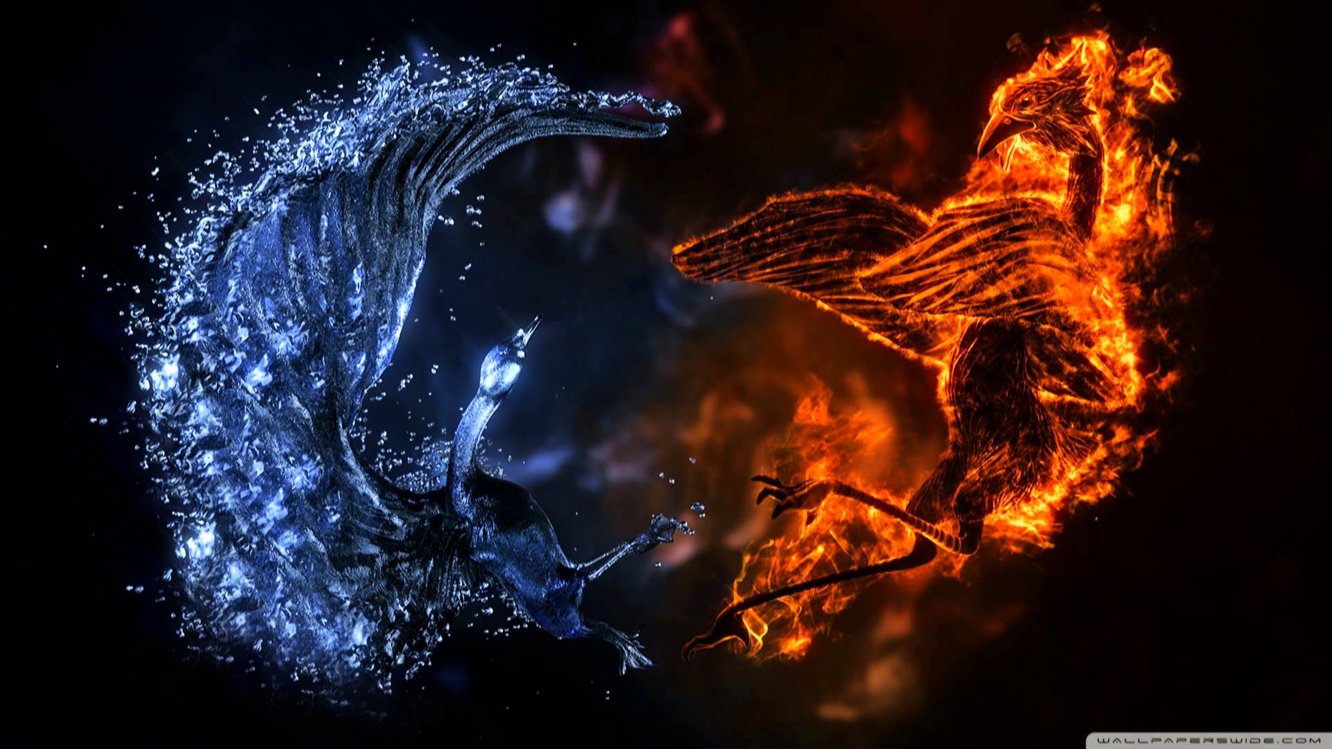 Fire And Ice Backgrounds, Compatible - PC, Mobile, Gadgets| 1920x1080 px