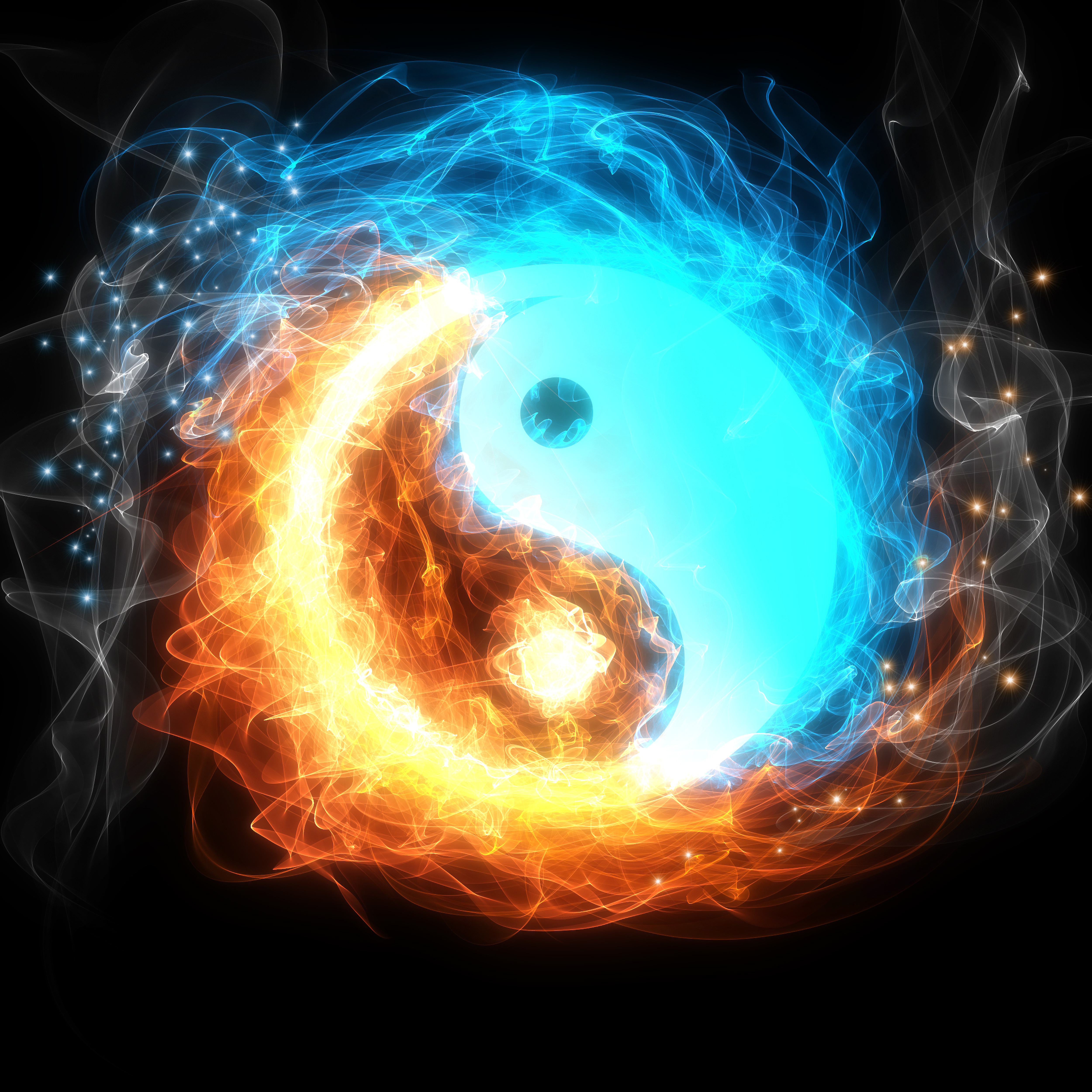 Fire And Ice Backgrounds, Compatible - PC, Mobile, Gadgets| 5000x5000 px