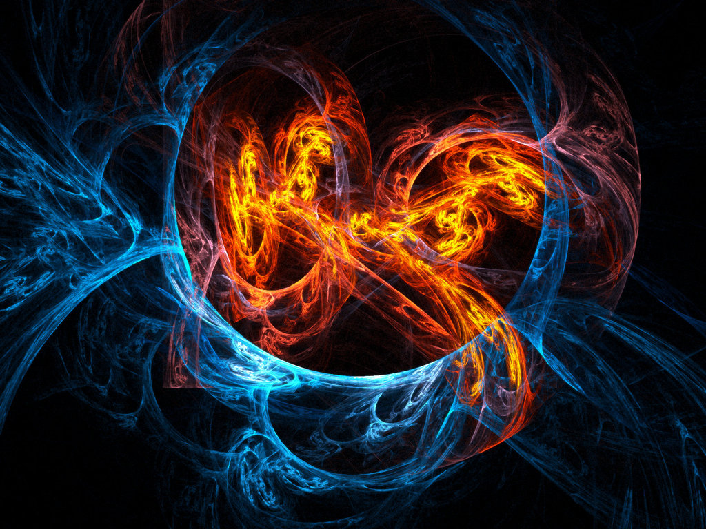 Nice wallpapers Fire And Ice 1024x768px