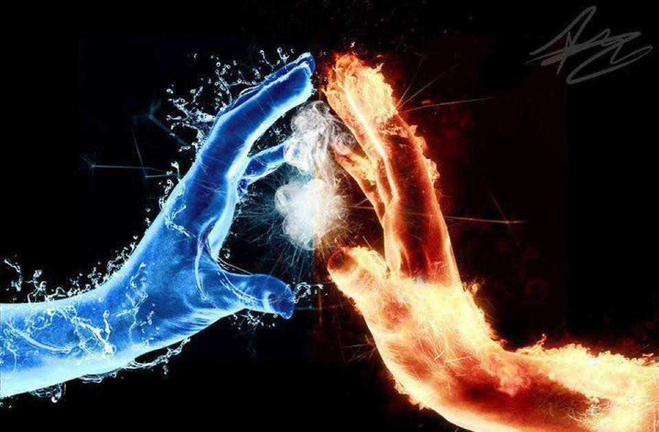 Fire And Ice Backgrounds on Wallpapers Vista
