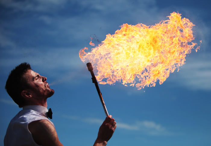 Nice Images Collection: Fire Breather Desktop Wallpapers