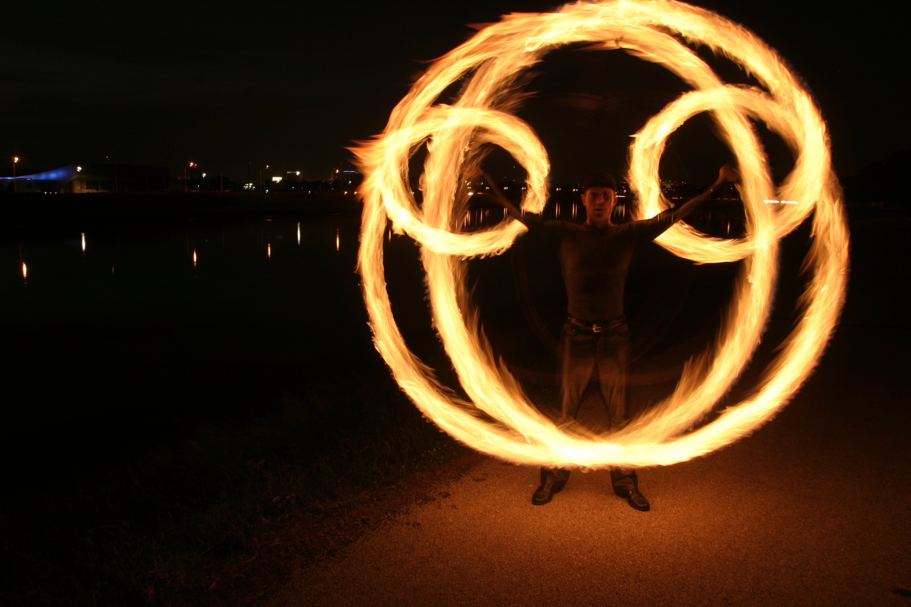 Nice wallpapers Fire Juggling 3072x2048px