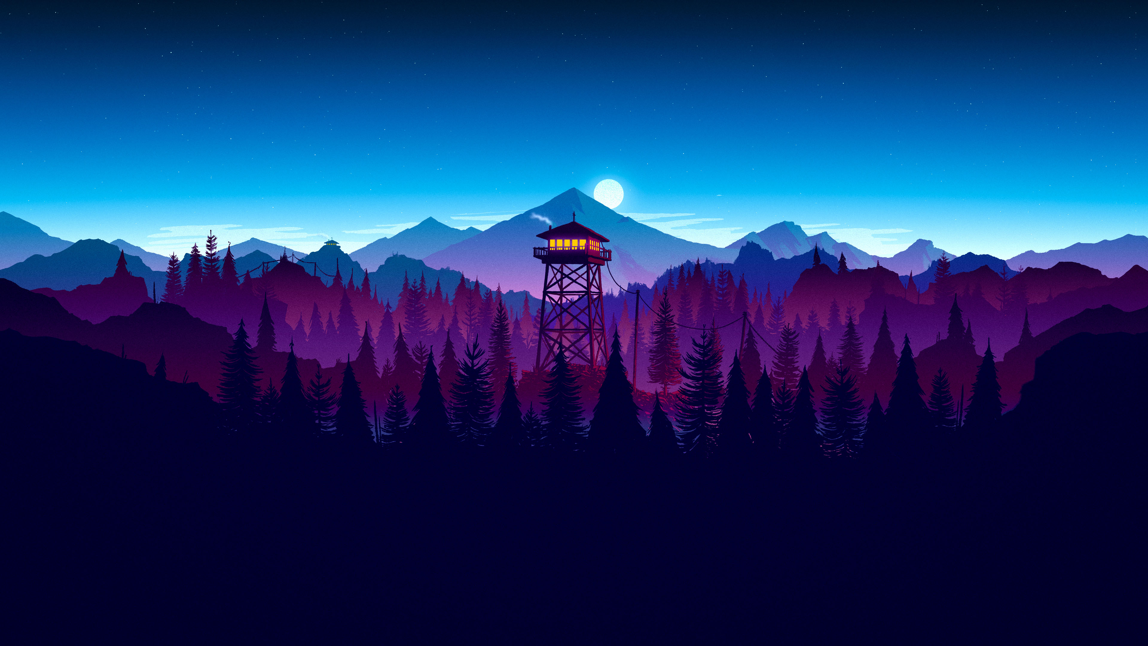 HD Quality Wallpaper | Collection: Video Game, 3840x2160 Firewatch
