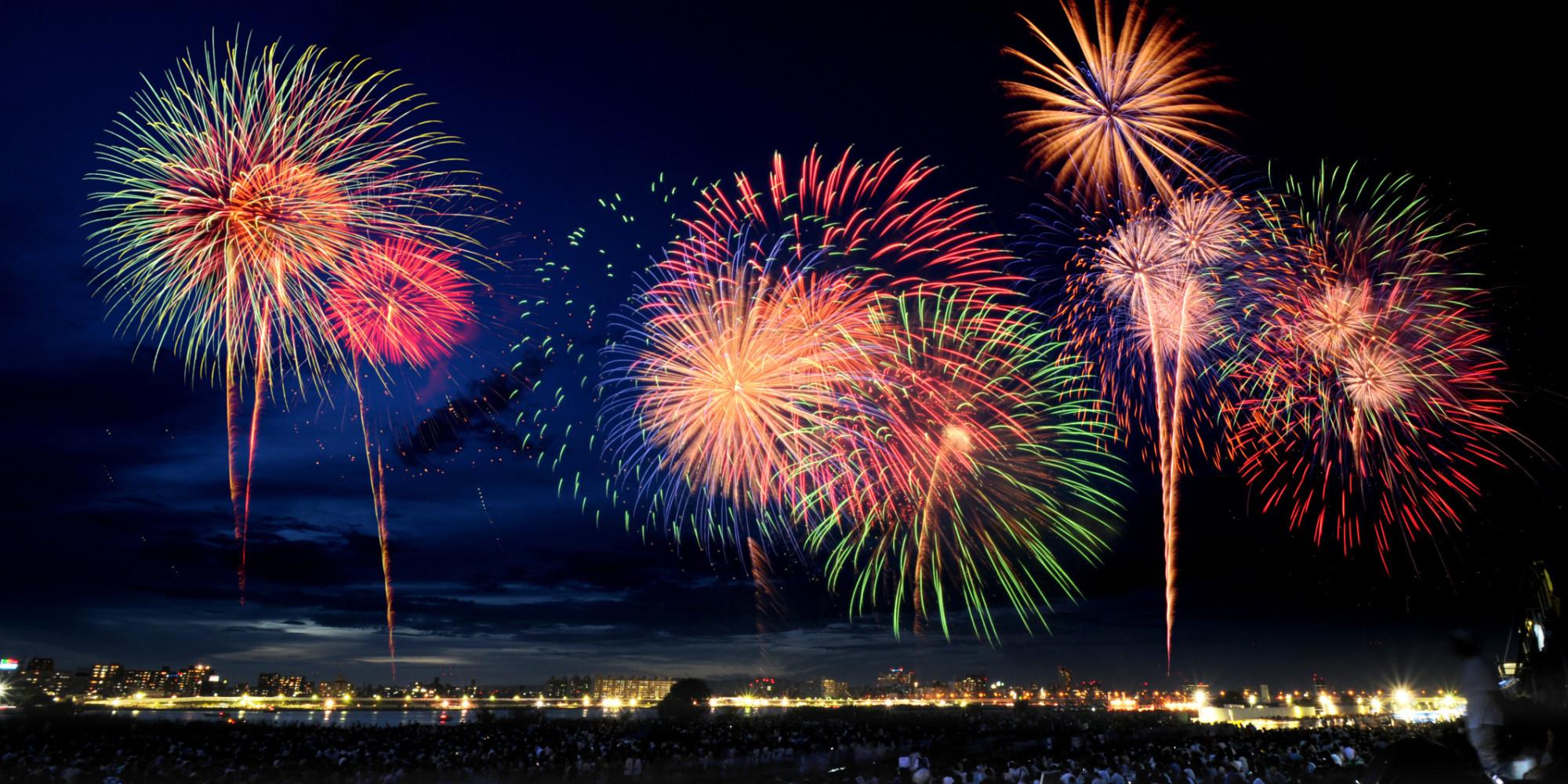 High Resolution Wallpaper | Fireworks 2000x1000 px