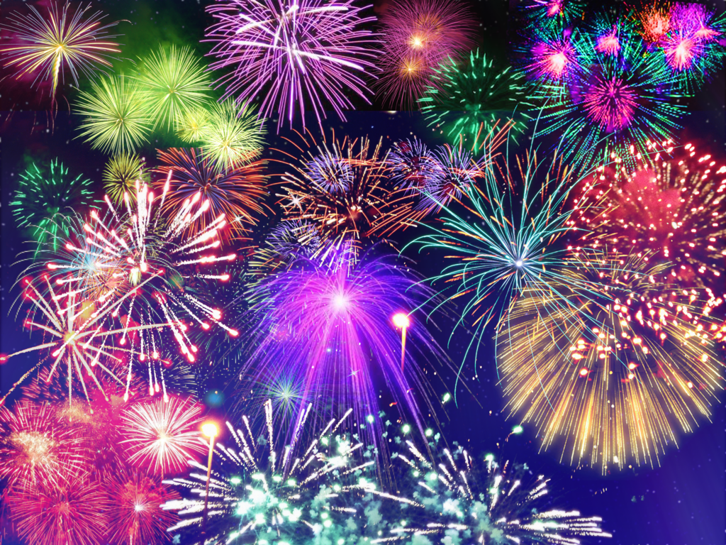 Fireworks Backgrounds, Compatible - PC, Mobile, Gadgets| 1024x768 px