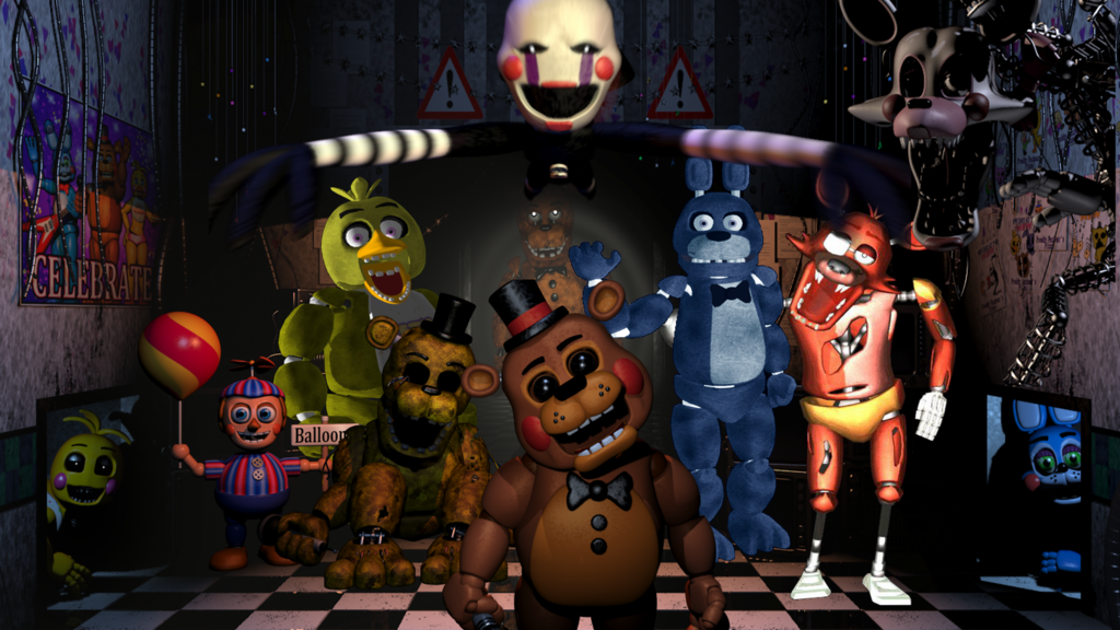High Resolution Wallpaper | Five Nights At Freddy's 1024x576 px