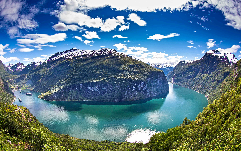 High Resolution Wallpaper | Fjord 5760x3605 px