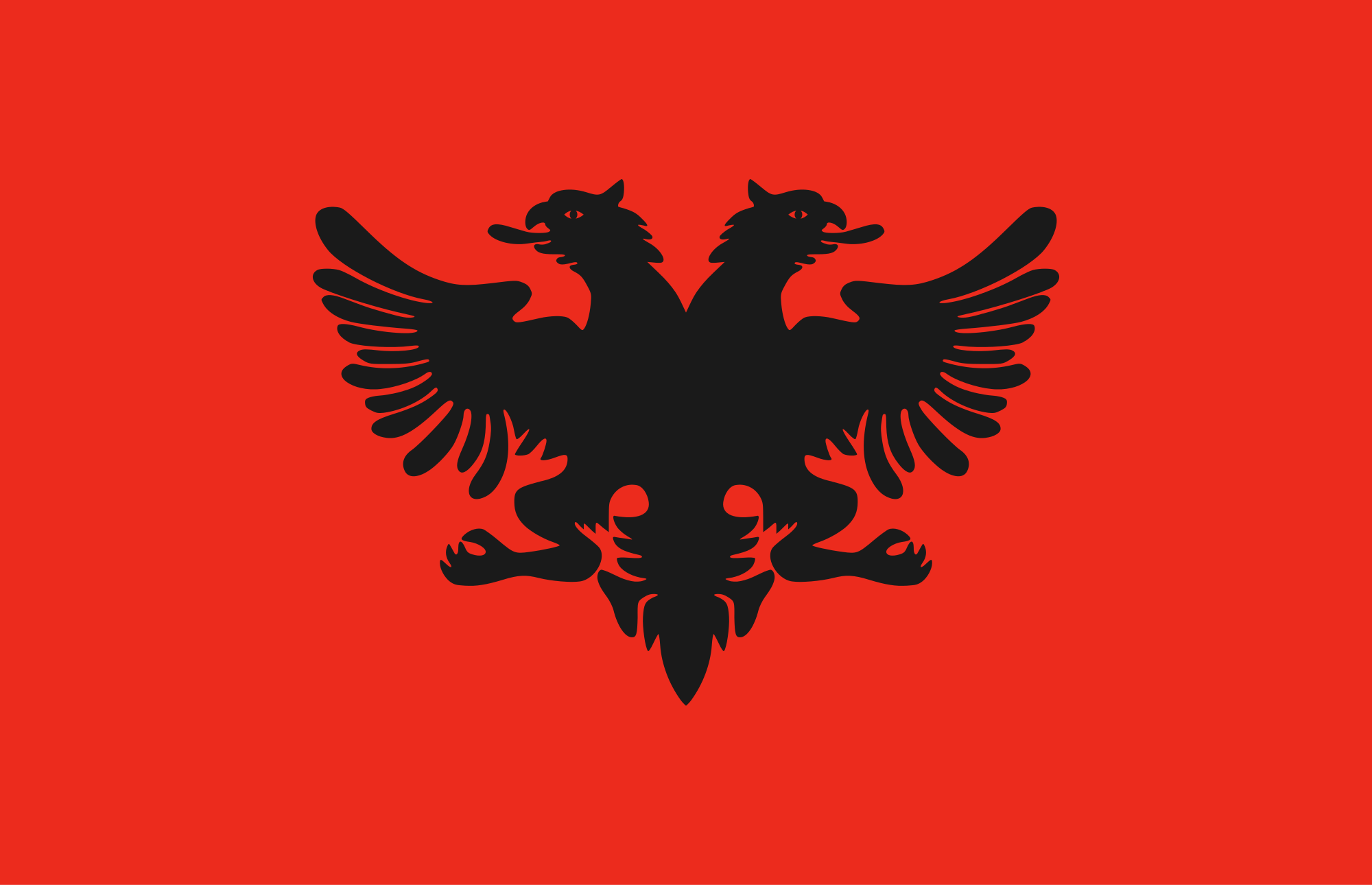 Flag Of Albania Backgrounds, Compatible - PC, Mobile, Gadgets| 2000x1290 px