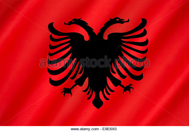 Nice Images Collection: Flag Of Albania Desktop Wallpapers