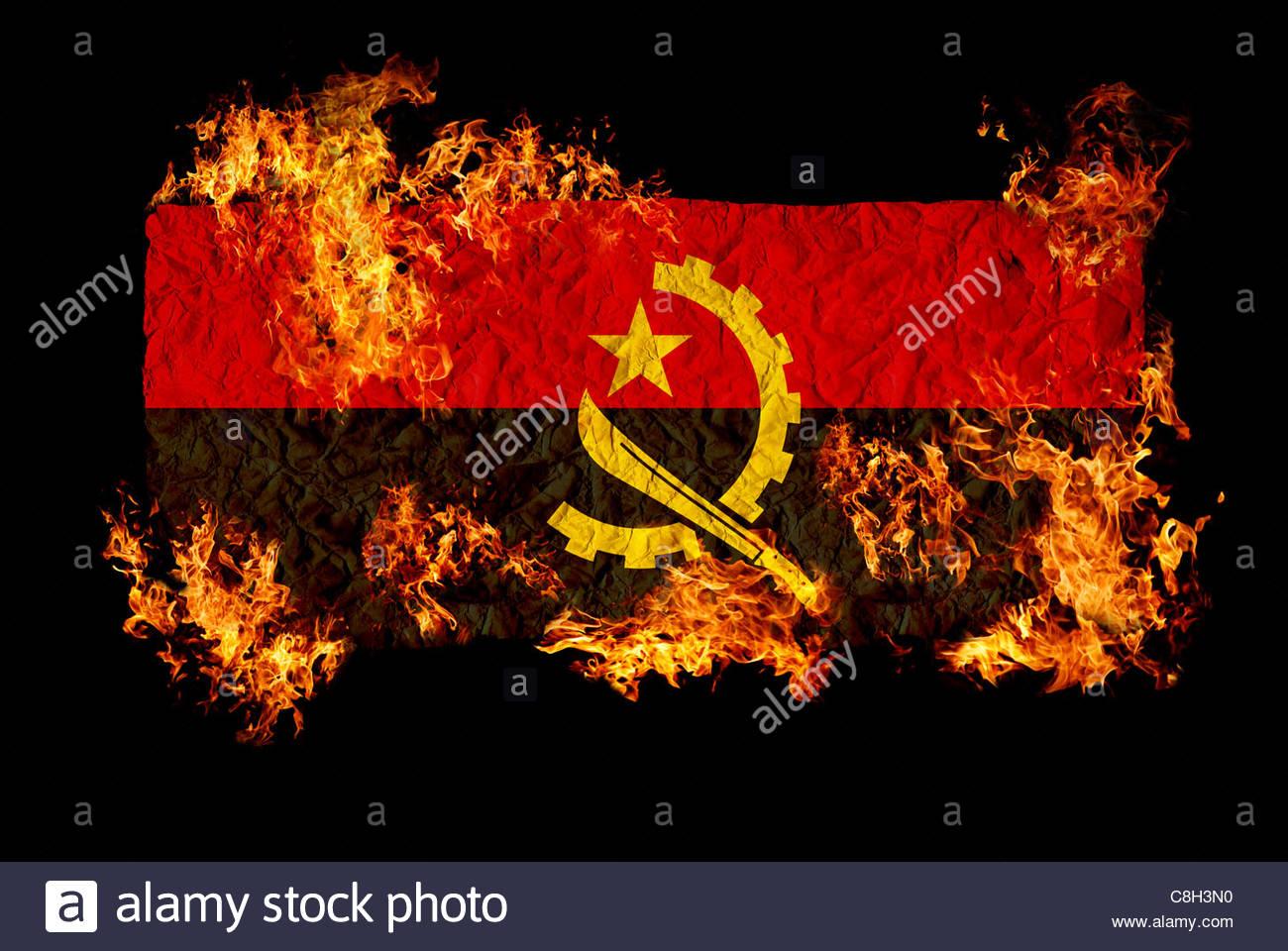 High Resolution Wallpaper | Flag Of Angola 1300x960 px