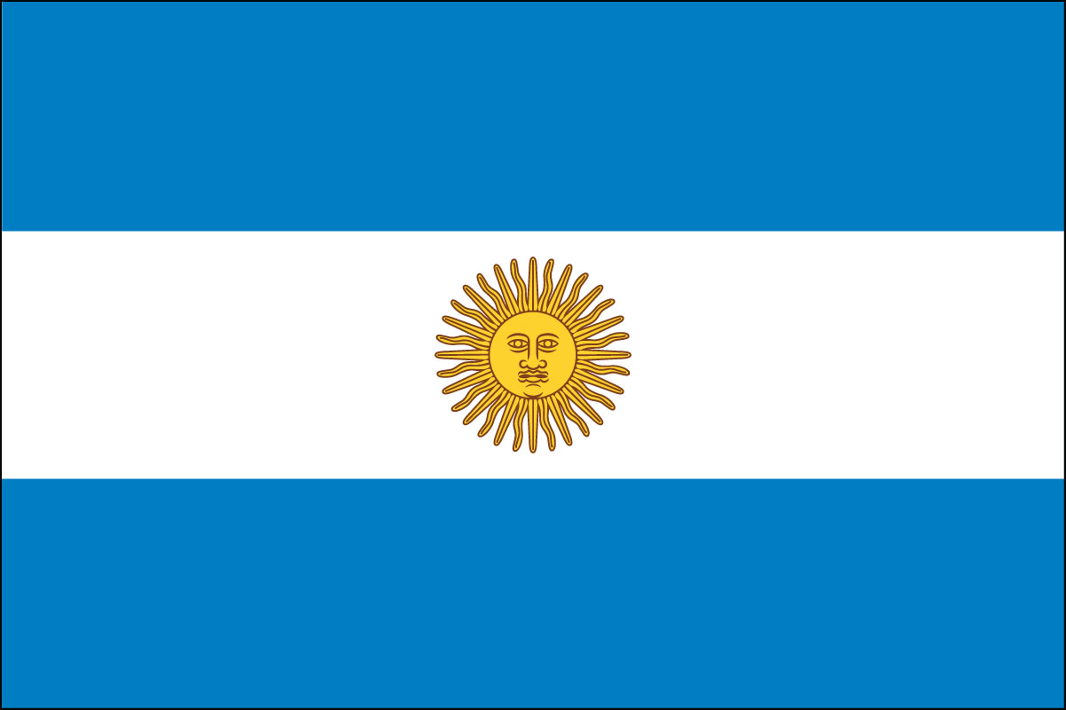 Nice Images Collection: Flag Of Argentina Desktop Wallpapers