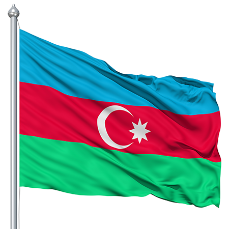 Flag Of Azerbaijan Backgrounds, Compatible - PC, Mobile, Gadgets| 450x450 px