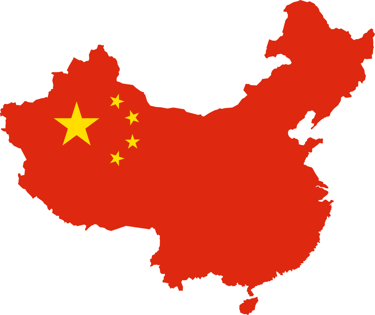 Nice Images Collection: Flag Of China Desktop Wallpapers