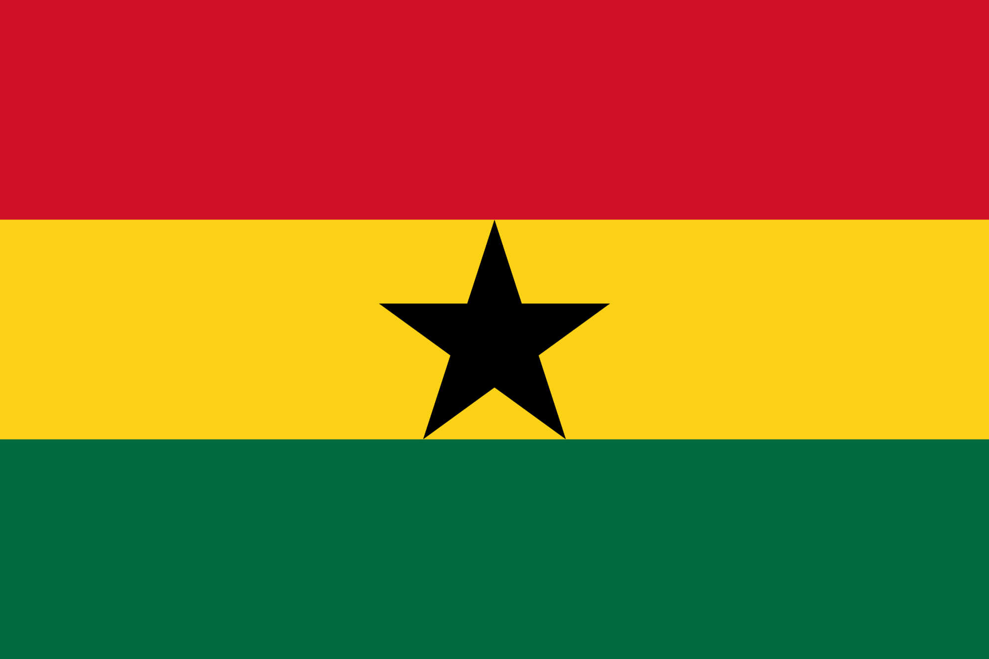 HD Quality Wallpaper | Collection: Misc, 2000x1333 Flag Of Ghana