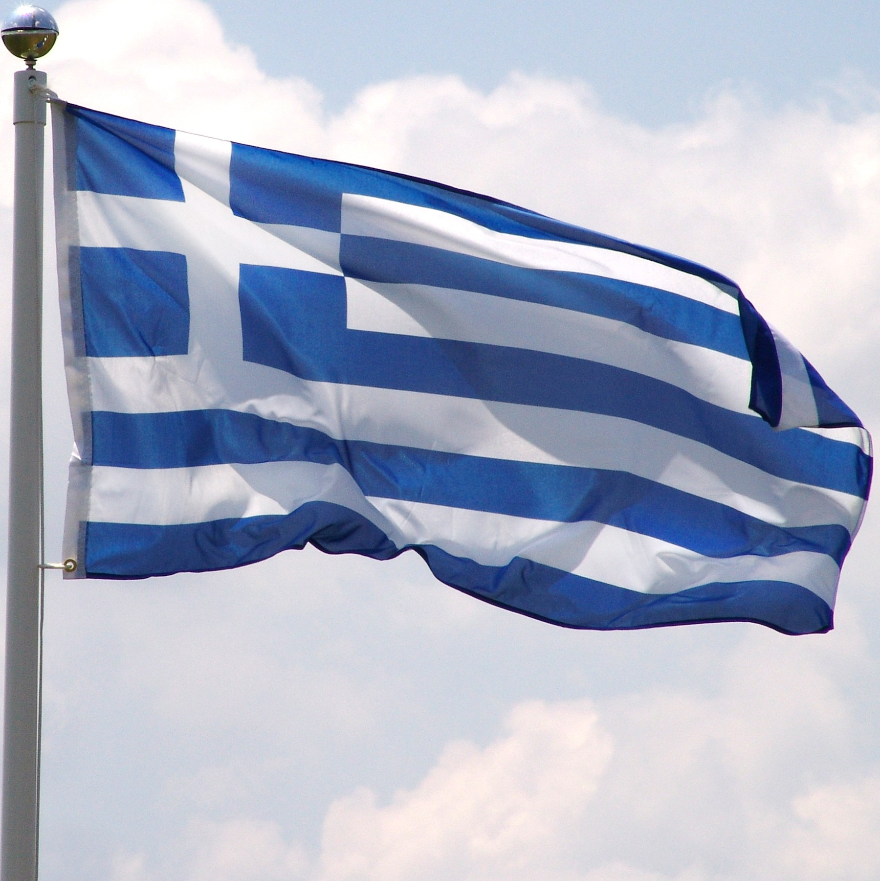 High Resolution Wallpaper | Flag Of Greece 1800x1801 px