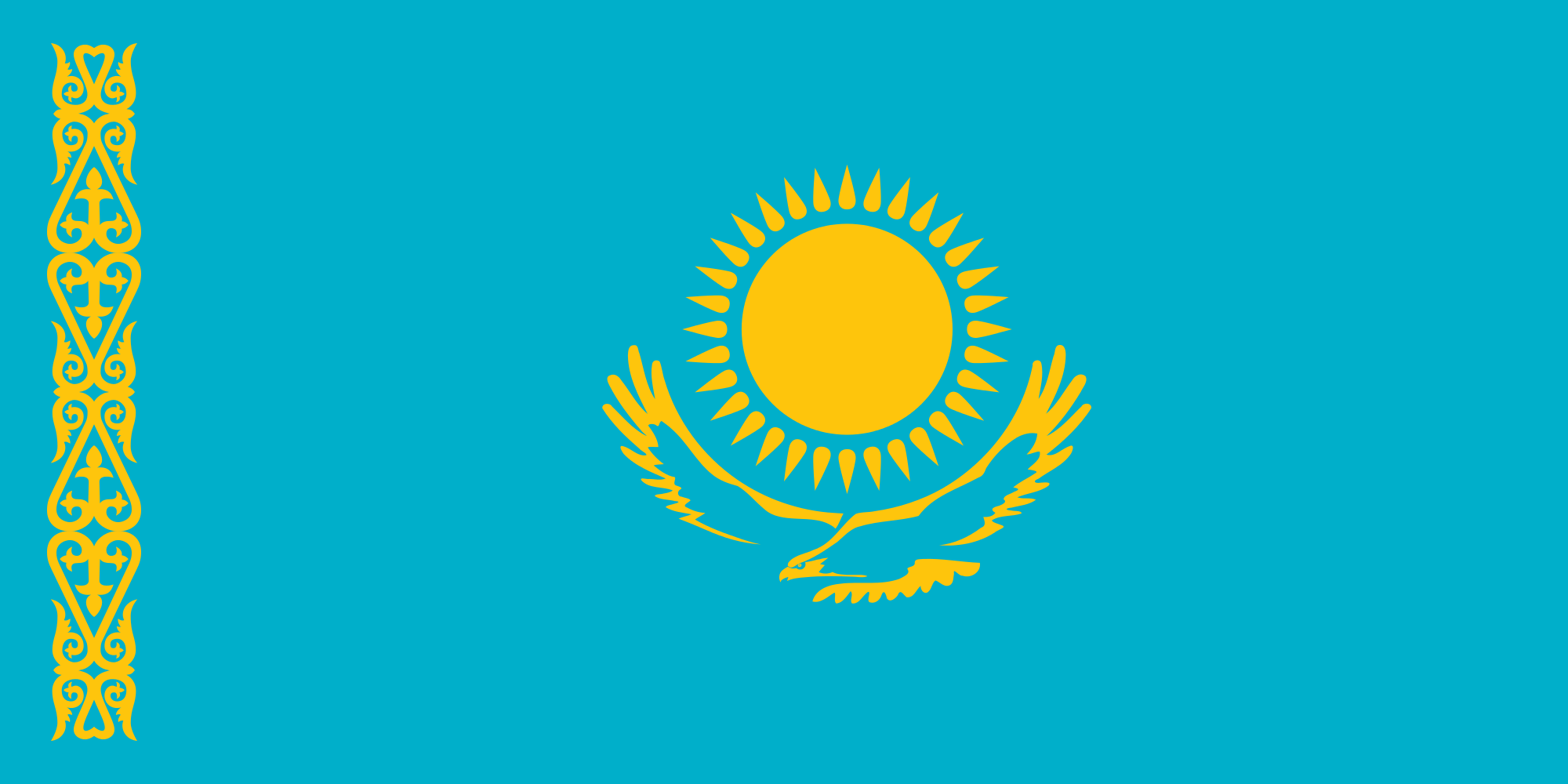 HD Quality Wallpaper   Collection: Misc, 2000x1000 Flag Of Kazakhstan