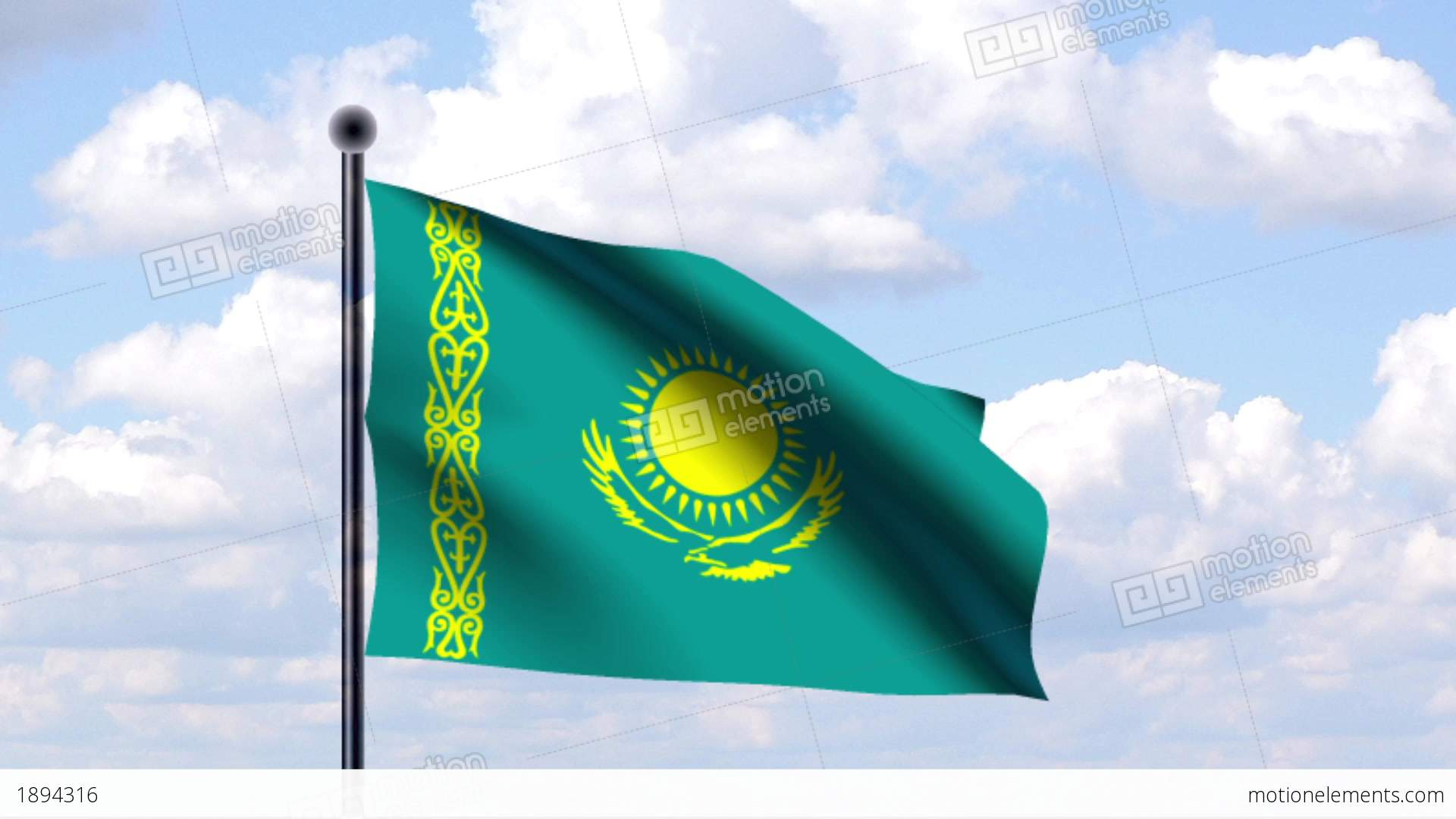Nice wallpapers Flag Of Kazakhstan 1920x1080px