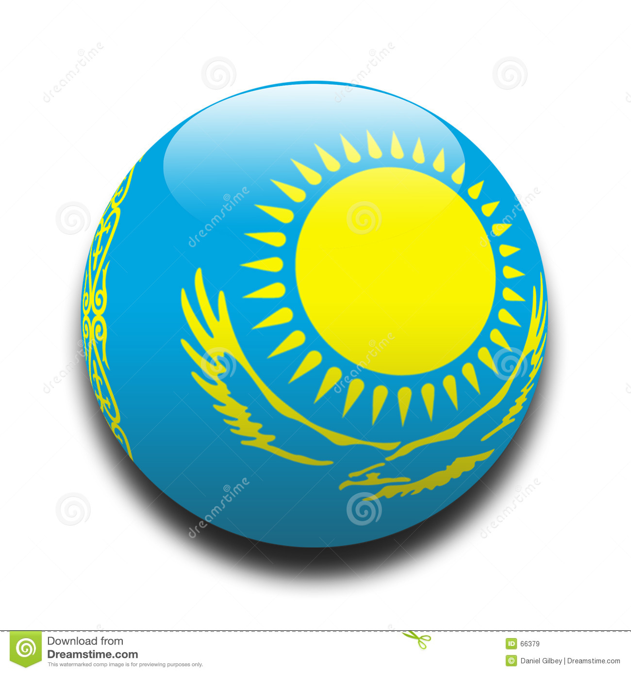 Flag Of Kazakhstan High Quality Background on Wallpapers Vista