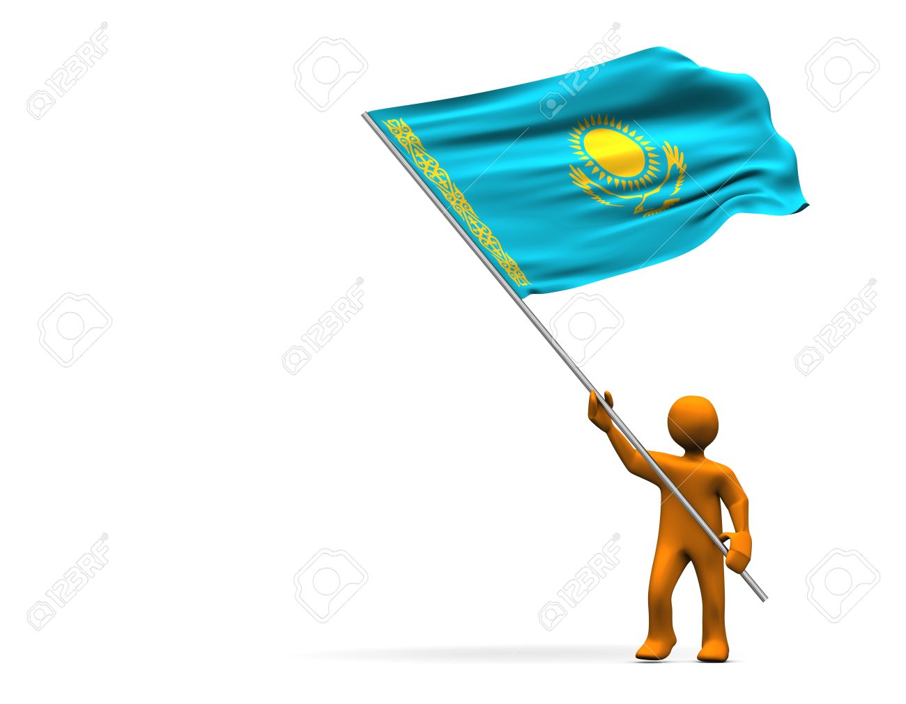 HQ Flag Of Kazakhstan Wallpapers   File 63.96Kb