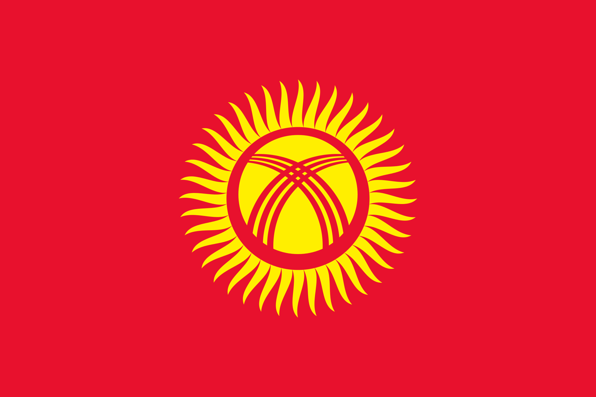 Flag Of Kyrgyzstan Backgrounds, Compatible - PC, Mobile, Gadgets  2000x1333 px