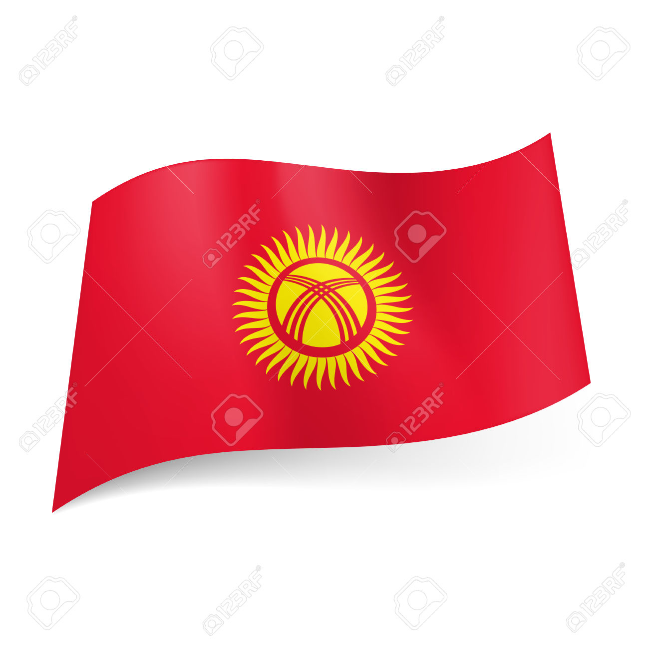 Flag Of Kyrgyzstan Backgrounds, Compatible - PC, Mobile, Gadgets  1300x1300 px