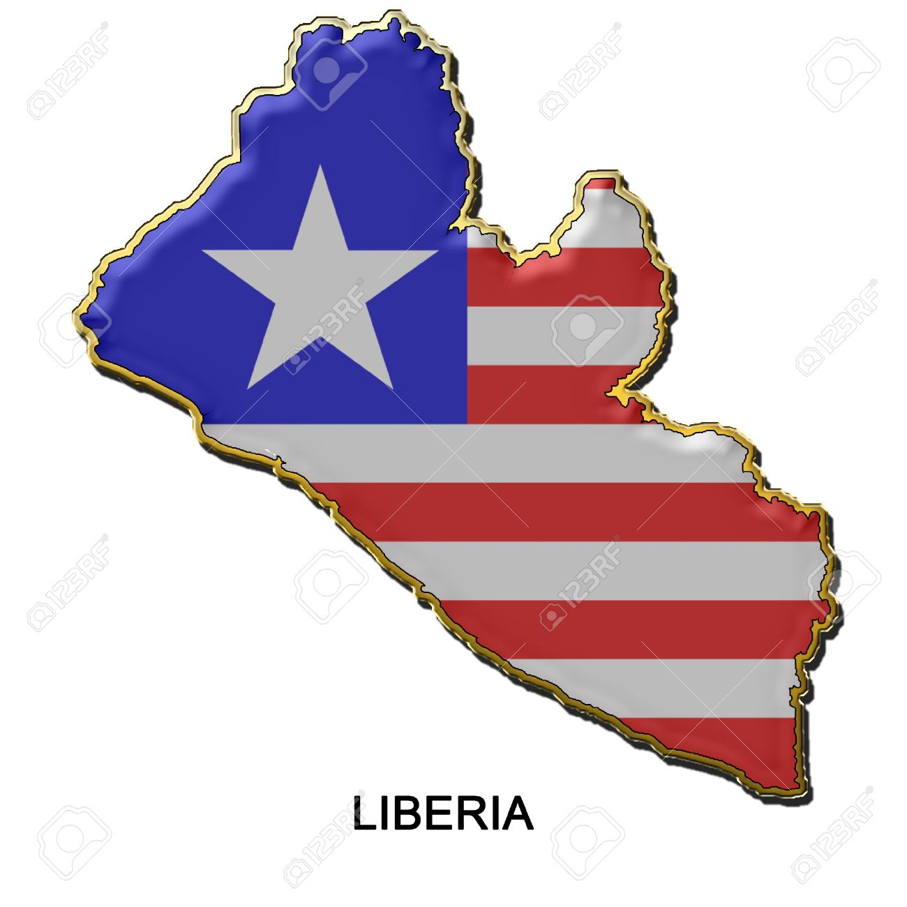 Nice Images Collection: Flag Of Liberia Desktop Wallpapers