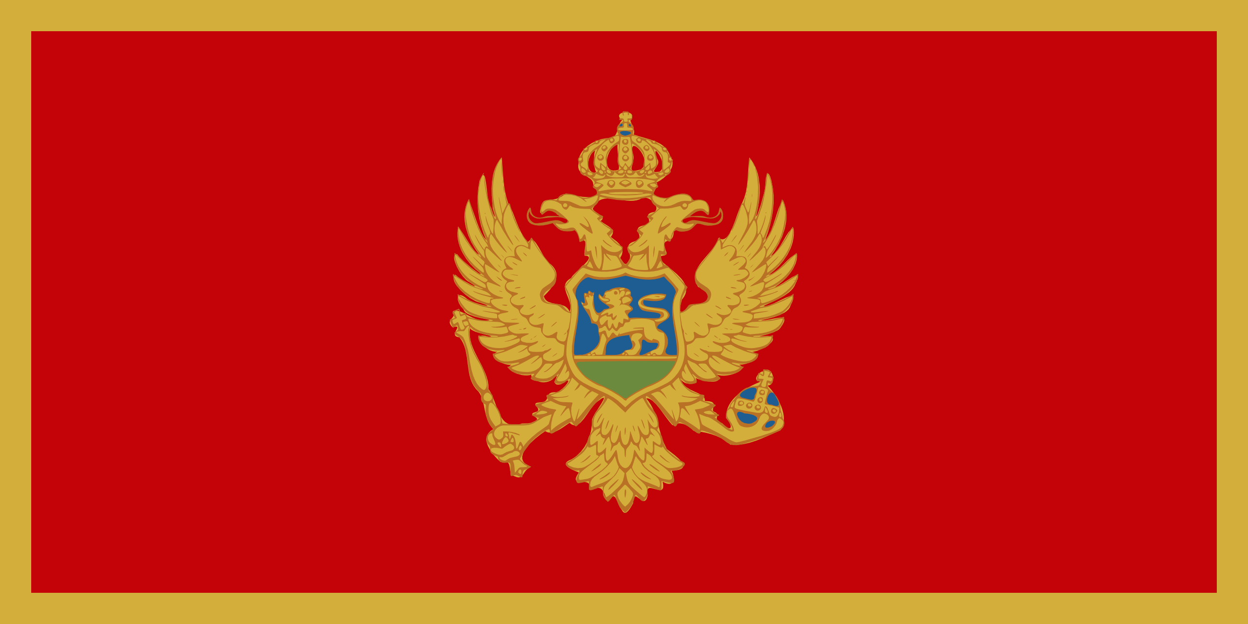 Nice Images Collection: Flag Of Montenegro Desktop Wallpapers