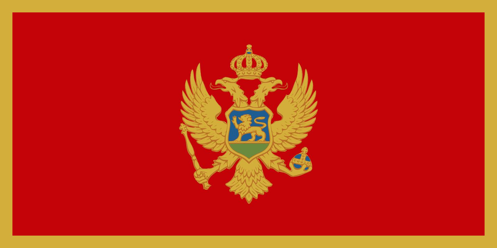 High Resolution Wallpaper | Flag Of Montenegro 1600x800 px