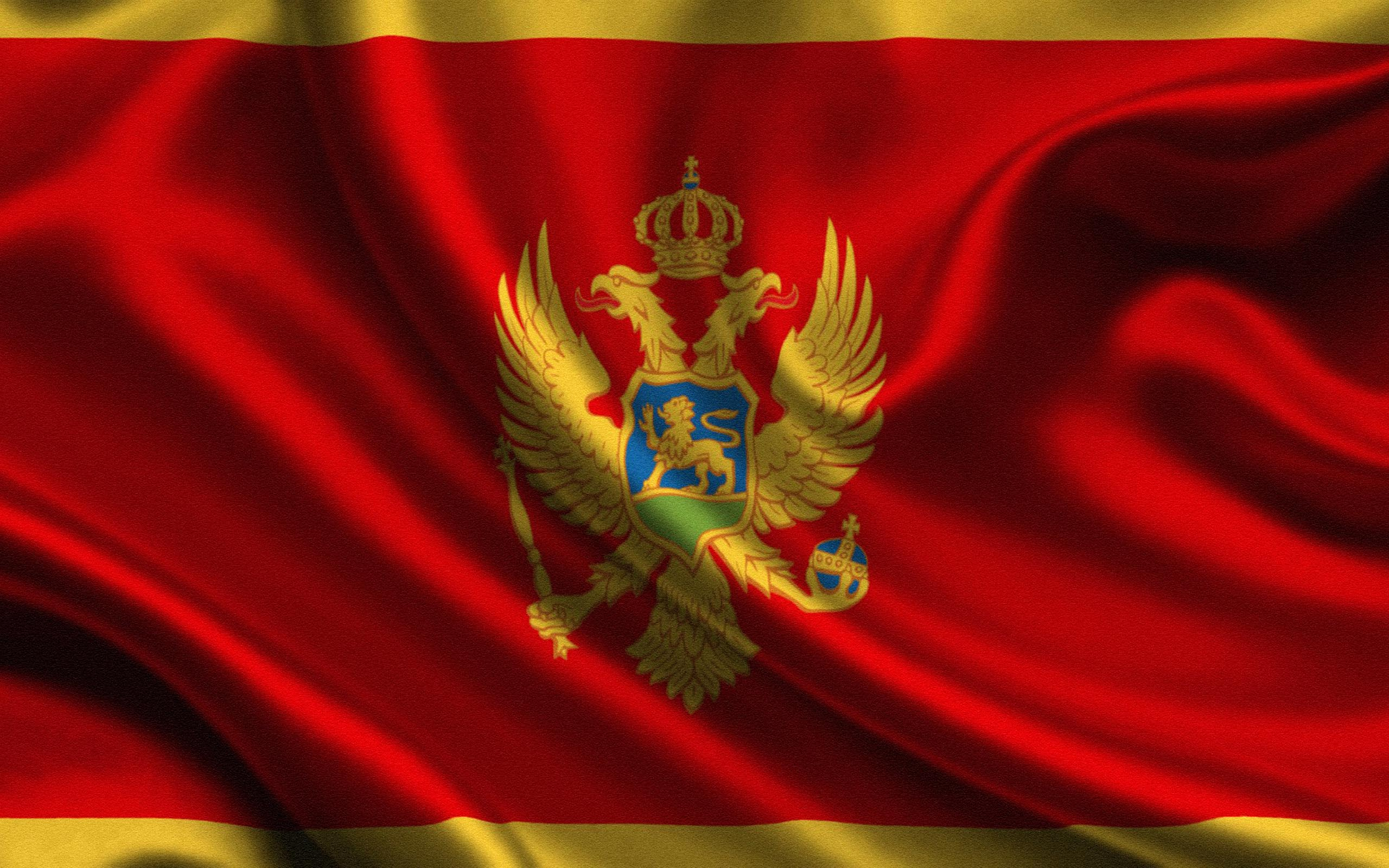 HD Quality Wallpaper | Collection: Misc, 2560x1600 Flag Of Montenegro