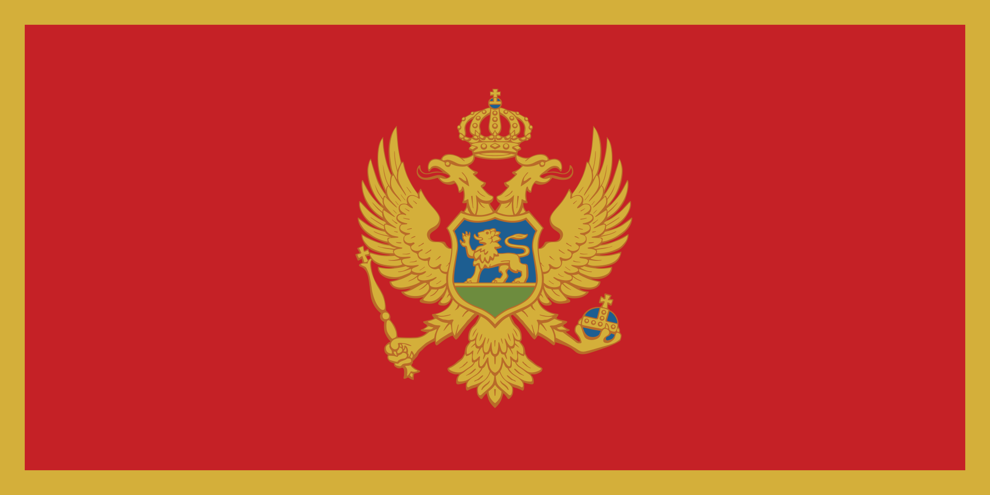 Flag Of Montenegro Backgrounds on Wallpapers Vista