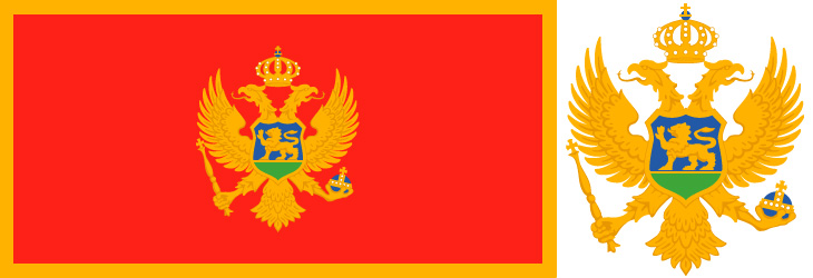 HD Quality Wallpaper | Collection: Misc, 730x250 Flag Of Montenegro