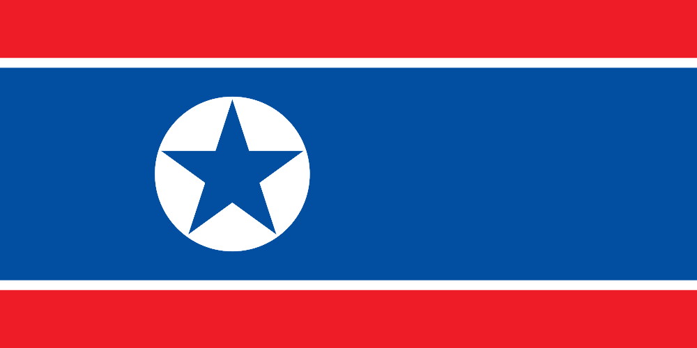 HD Quality Wallpaper | Collection: Misc, 1000x500 Flag Of North Korea