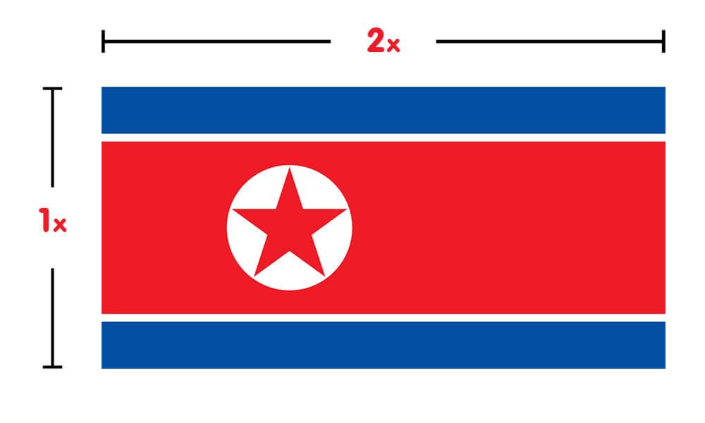 High Resolution Wallpaper | Flag Of North Korea 1000x600 px