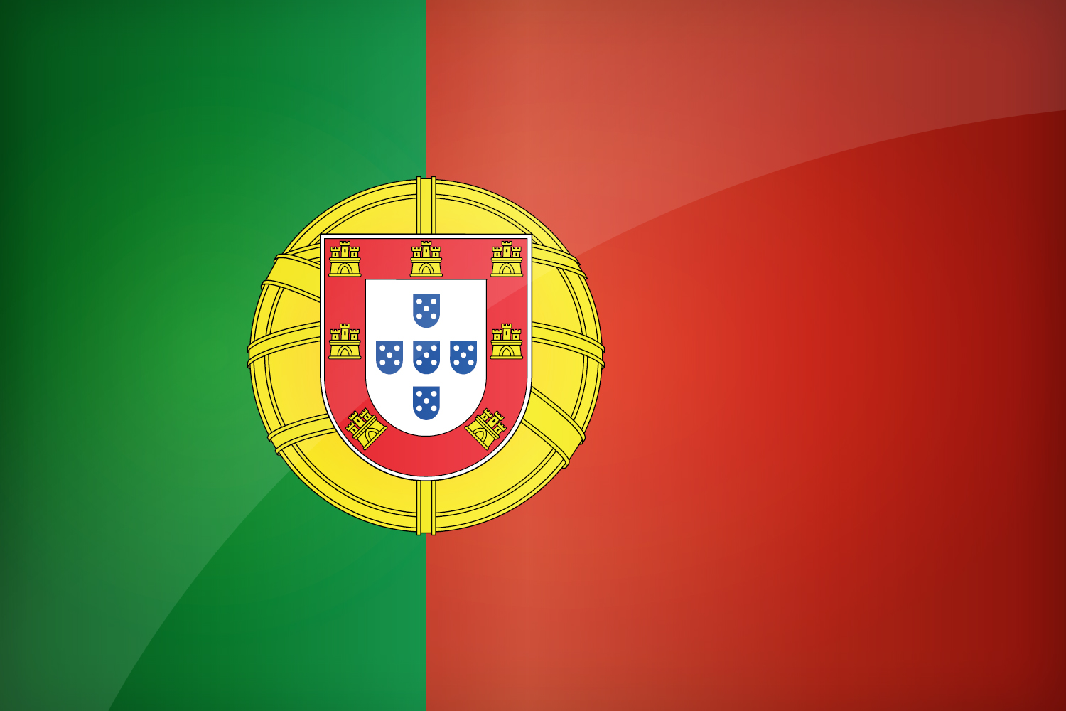 Nice wallpapers Flag Of Portugal 1500x1000px