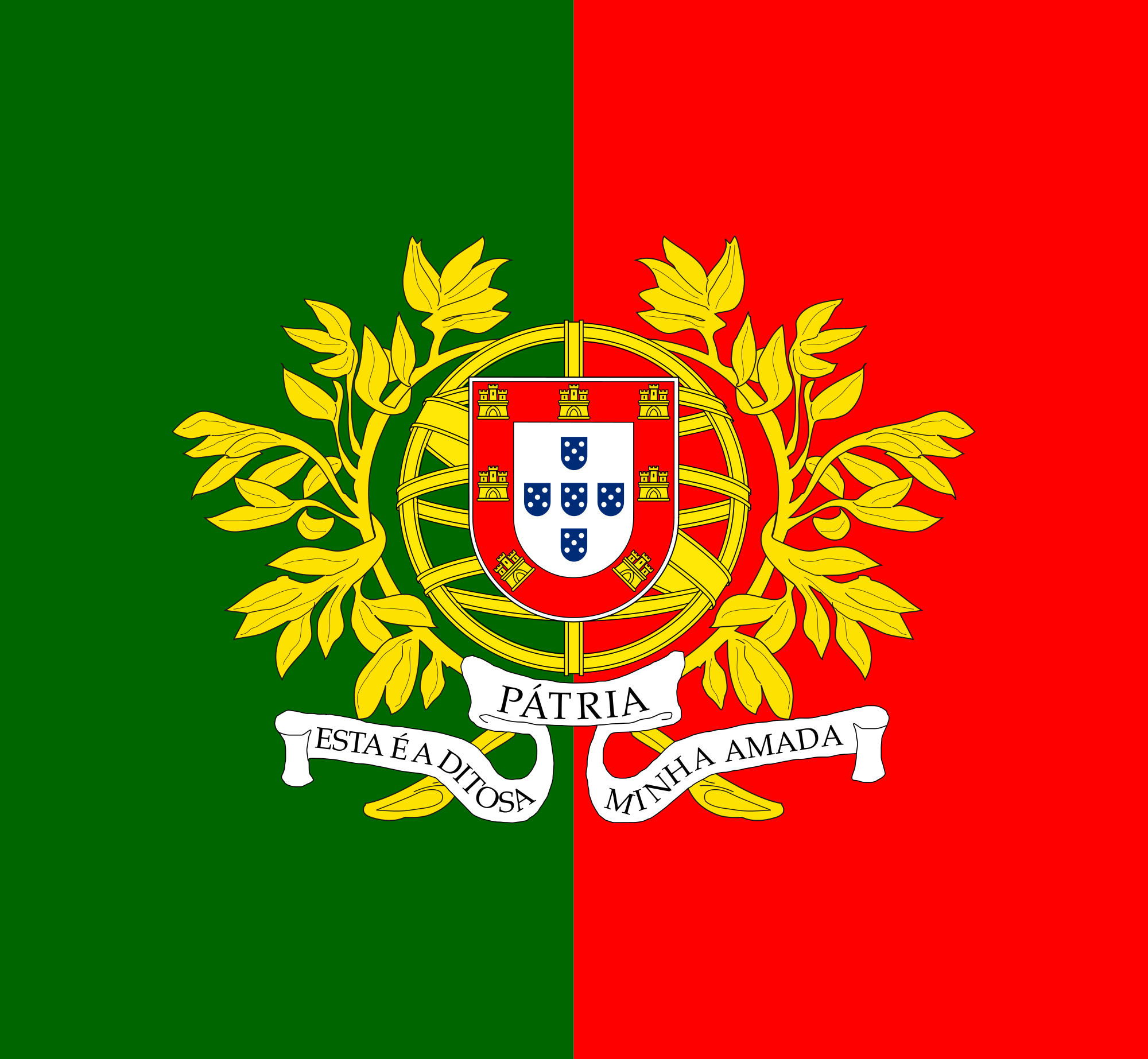 Nice wallpapers Flag Of Portugal 2000x1845px
