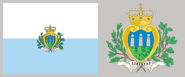High Resolution Wallpaper   Flag Of San Marino 600x250 px
