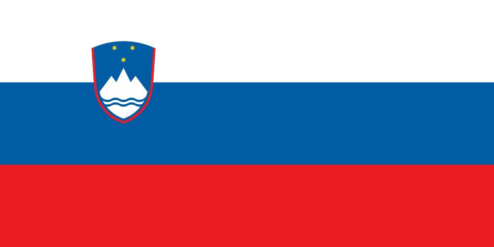 High Resolution Wallpaper | Flag Of Slovenia 1000x500 px