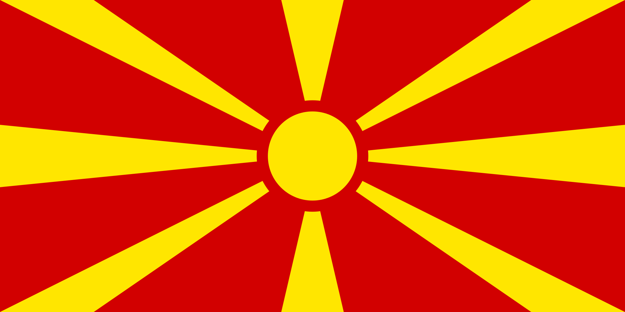 HD Quality Wallpaper   Collection: Misc, 2000x1000 Flag Of The Republic Of Macedonia
