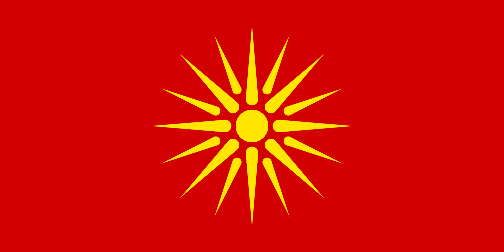 High Resolution Wallpaper   Flag Of The Republic Of Macedonia 2000x1000 px