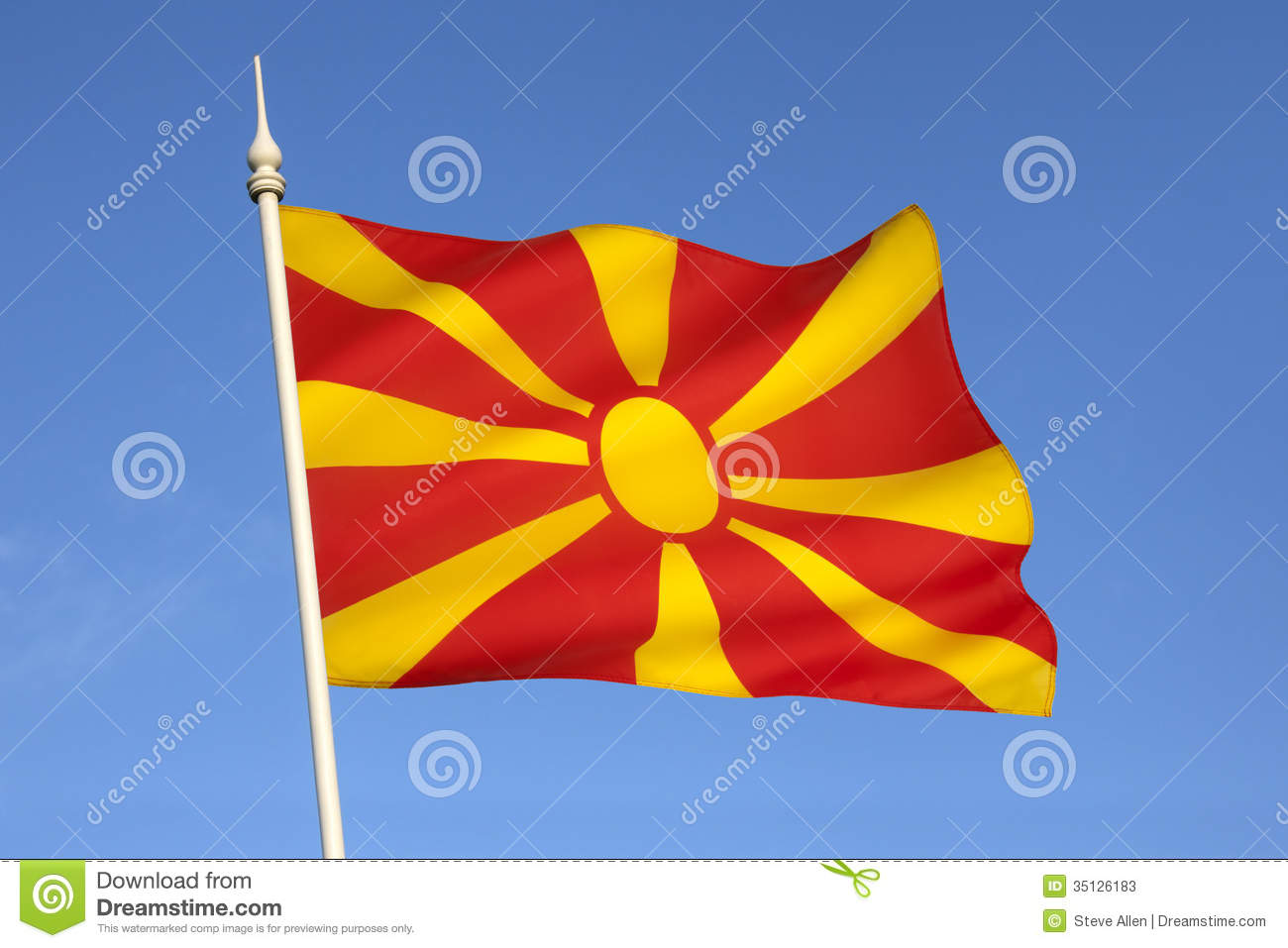 HQ Flag Of The Republic Of Macedonia Wallpapers   File 95.49Kb