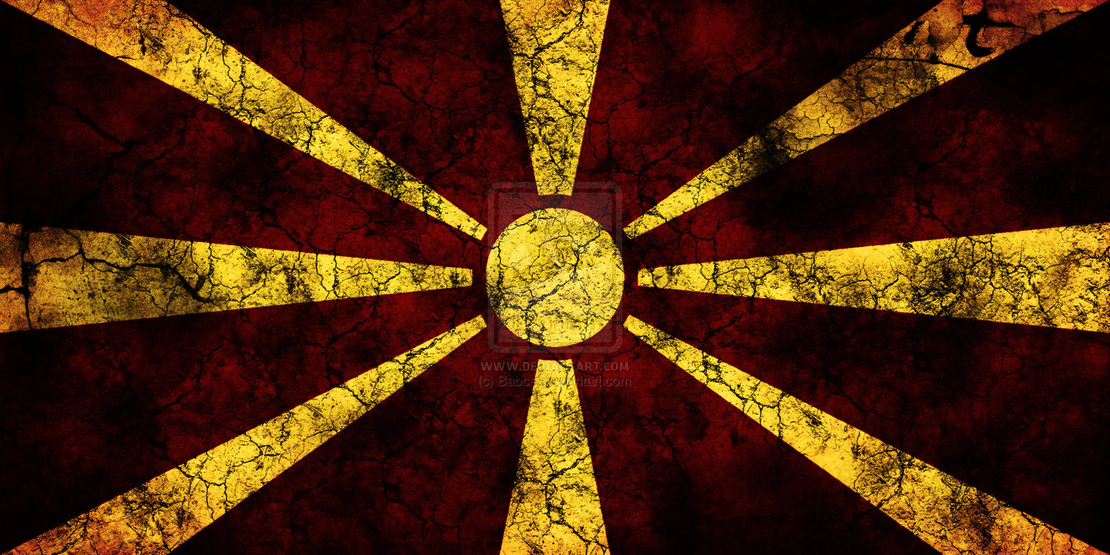 High Resolution Wallpaper   Flag Of The Republic Of Macedonia 1600x800 px