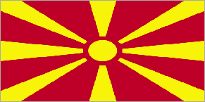 Nice Images Collection: Flag Of The Republic Of Macedonia Desktop Wallpapers