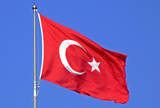 Nice wallpapers Flag Of Turkey 555x374px