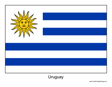 Images of Flag Of Uruguay   364x281