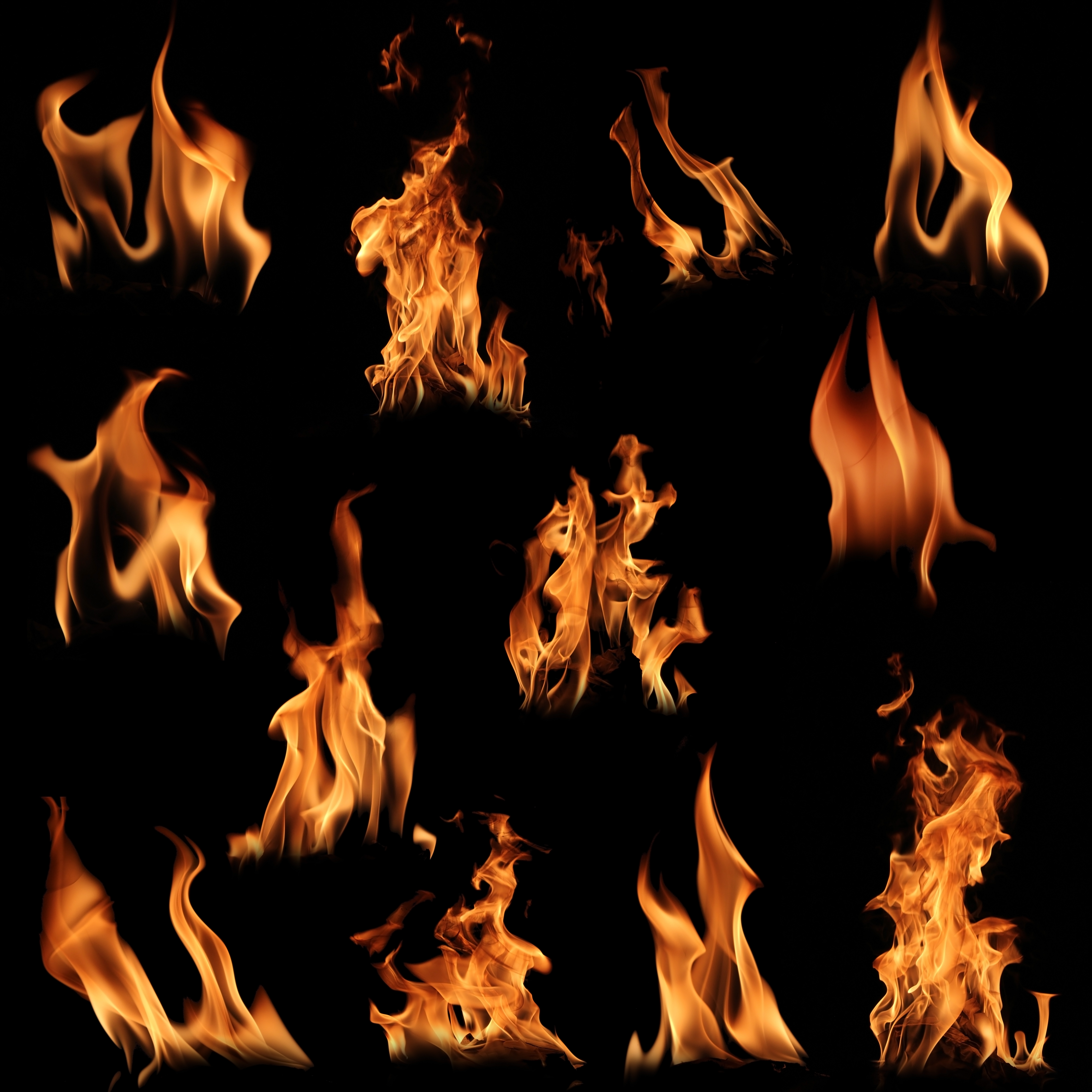 HD Quality Wallpaper | Collection: Abstract, 8000x8000 Flames