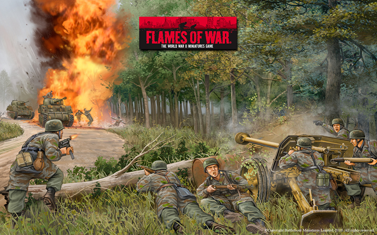 HQ Flames Of War Wallpapers | File 729.33Kb