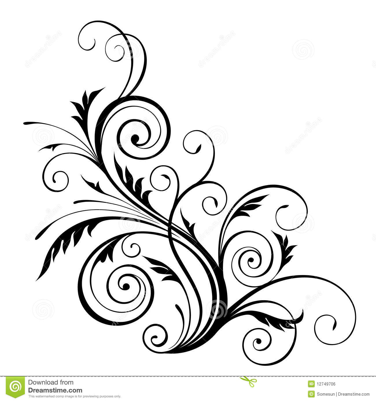 simple swirl vector - HD1200×1200